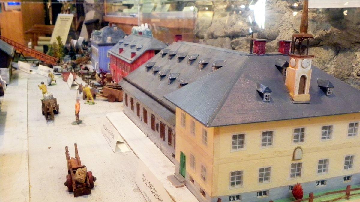 Modell des Montanmuseum Altböckstein