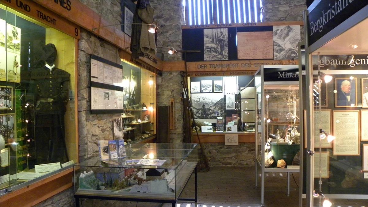 Schauraum im Montanmuseum Böckstein